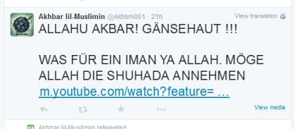 Muslimin zu Suizidbombern
