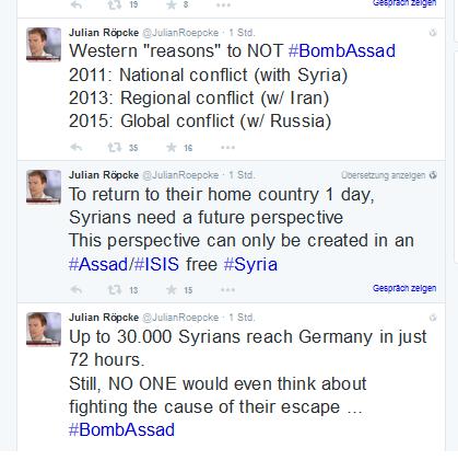 Röepcke bomb Assad