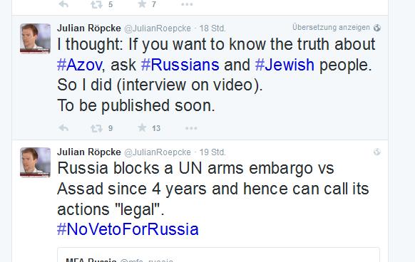 Röpcke Nazis UN Veto russlandhetze