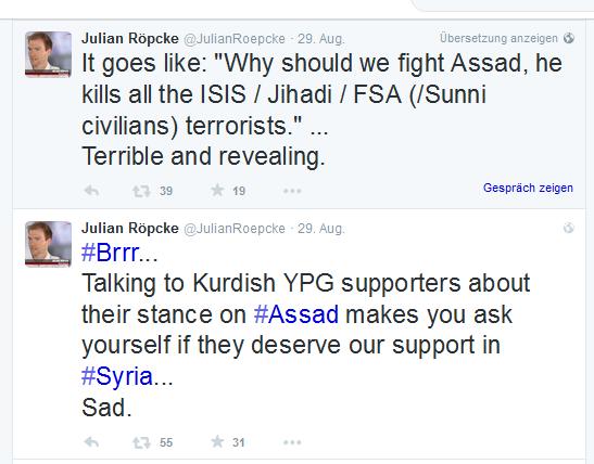 Roepcke Hetze gegen Kurden in Syrien
