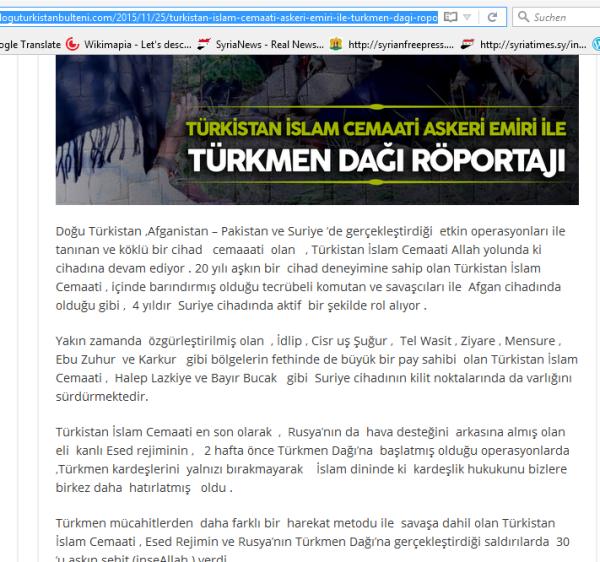 TIP-Terroristen syrien Turkmenen berge