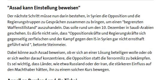 Steinmeier , der Psychopath