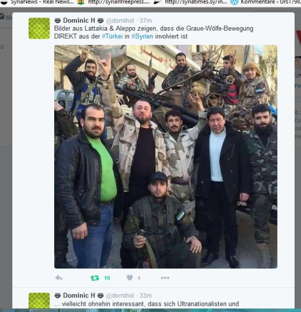 Türkische FSA-Terroristen der Grauen Wölfe