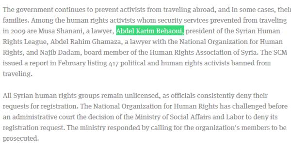 Illegale Menschenrechtsorganisationen