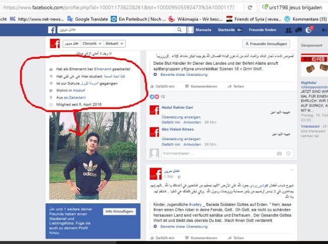 Alsdorf-Zabadani-Wadi-Barada Terrorismus-Unterstützung
